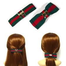 barrette hair 2pcs green green stripe bow barrette hair clip pin