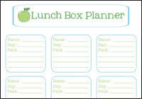 lunch box planner template nifty meal planners to make or print tipnut com