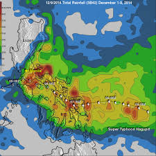Rainfall Totals Map Hagupit Northwestern Pacific Ocean Nasa