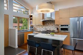 small kitchen island with sink contemporary kitchen drum pendant light with hardwood floors