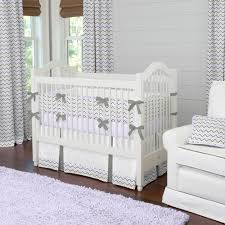 Lavender And Grey Crib Bedding Lilac And Slate Gray Chevron Crib Bedding Baby Bedding For