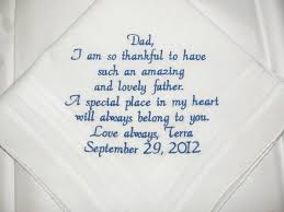 Wedding Day Sayings Father Of The Bride Wedding Handkerchief By Canyonembroidery On Zibbet