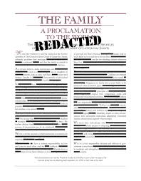 family proclamation lds family proclamation redacted thank god i m atheist