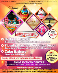 two weeks intensive training in balloon artistry cake making and
