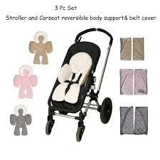 poussette siege auto bebe 3 pc ensemble bébé infantile réversible soutien du corps et