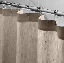 Restoration Hardware Shower Curtains Designs Vintage Washed Belgian Linen Shower Curtain