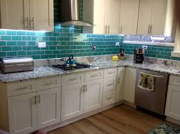 kitchen backsplash contemporary green subway tile kitchen