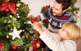 the key to was decorating our tree with my