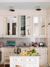 small white kitchen island kitchen mirrored cabinets kitchen bar stools track pendant light