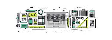 fourniture de bureau en ligne dossier de bureau avec fournitures et des outils stationnaires
