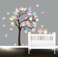 tree with owl wall decal owl wall stickers for kids room
