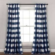 Navy Blue Plaid Curtains Check Plaid Curtains Drapes You Ll Wayfair