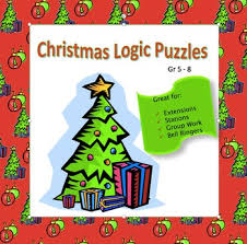 two christmas themed logic puzzles from the science vault where