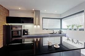 modern gourmet kitchen spectra is solid black with an exceptional shine this luminous