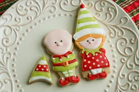 boy and elf cookies with color me cookie guest post u2013 the
