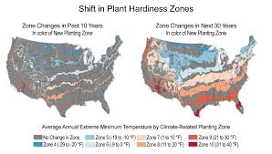 Growing Zone Map Shifts In Plant Hardiness Zones National Climate Assessment