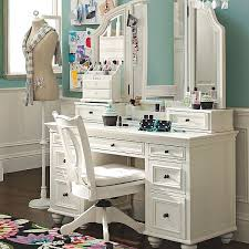 Narrow Makeup Vanity Table Chelsea Vanity Pbteen Pertaining To Modern Property Set For