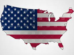 Map Of United States Vector by Amazoncom Usa United States Of America American Map Flag Sticker