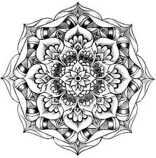 collection of solutions printable lotus flower mandala coloring