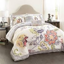Perry Ellis Asian Lilly 3 Piece Mini Duvet Cover Set Perry Ellis Asian Lilly 3 Piece Comforter Set By Perry Ellis