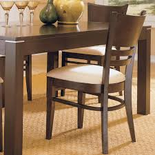 Shop Dining Chairs Venice Espresso Cushioned Dining Chair Set Of 2 By Inspire Q
