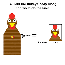 printable craft for toddlers make a thanksgiving turkey