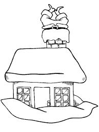 vector cartoon santa stuck chimney coloring outline