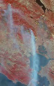 California Wildfires Global Warming by Destructive Northern California Fires Nasa
