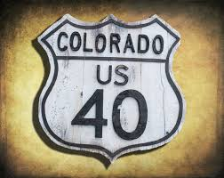 vintage road sign reclaimed wood colorado route 40 retro vintage road sign reclaimed wood colorado route 40 retro black