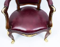 antique desk chair louis xvi style in mahogany c 1880 desirable