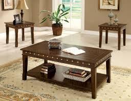 cm4630 fenwick coffee table u0026 2 end tables 3pc set in walnut