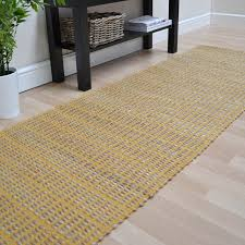 The Rug Seller Ranger Hallway Runners In Mustard Free Uk Delivery The Rug Seller