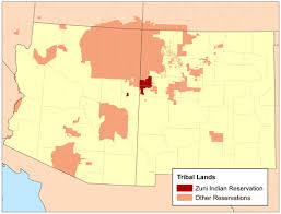 map usa indian reservations zuni indian reservation