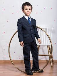 costume bleu marine mariage costume enfant mariage ensemble cérémonie garçon ensemble