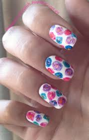 indian ocean polish simple watercolour flower nail art
