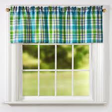 bright plaid window valances set of 2 christmas tree shops andthat