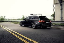 audi a4 slammed slammed all black audi a4 avant on air suspension and adv1 custom