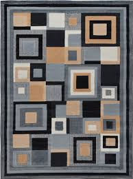 Rugs Modern Contemporary Geometric Area Rug Modern Stripe Squares Carpet
