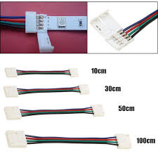 fry s led light strips 10mm 10 30 50 100cm 4 pin rgb led strip light accessories adapter