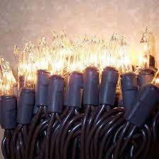 brown cord mini lights brown wire outdoor mini lights 15 clear bulb 6 ft string
