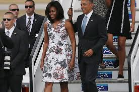 obama dresses obama slayed in a dress by carolina herrera in cuba