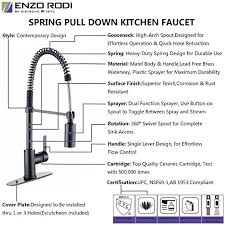 cer kitchen faucet enzo rodi erf7209251ha 10 modern commercial single handle