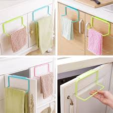 Over The Door Bathroom Organizer by Metal Over Door Tea Towel Rack Bar Hanging Holder Rail Organizer