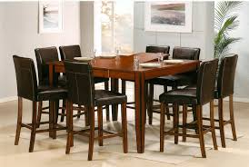 Pub Table And Chairs Set Counter Height Square Pub Table Classic Wood Dining Furniture