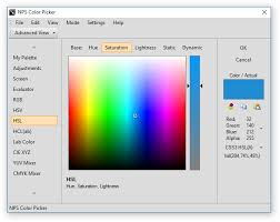 color picker and other color tools nps image editor