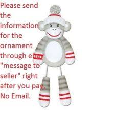 sock monkey ornament ebay