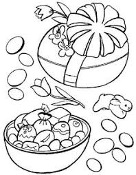 easter basket with eggs coloring page easter basket coloring pages printables for children