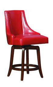 Leather Swivel Bar Stool Amazon Com Homelegance 2479 24rds Annabelle Red Synthetic Leather