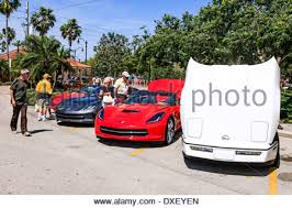 corvette owners venice florida chevy corvette owners day stock photo royalty free