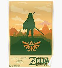 legend of zelda world map poster breath of the wild posters redbubble
